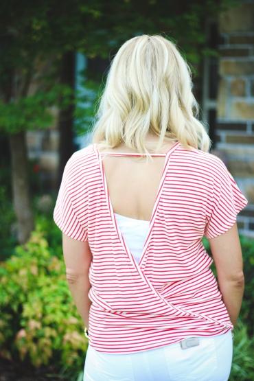 back criss cross blouse