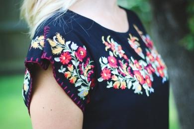 embroidery dress shoulder shot