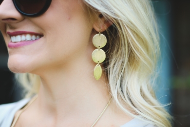gold disc earring