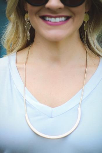 long horseshoe necklace