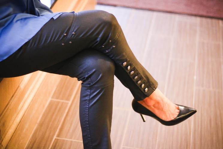 Doncaster black studded pants