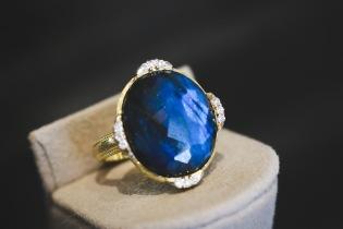 Jude Frances triple diamond ring