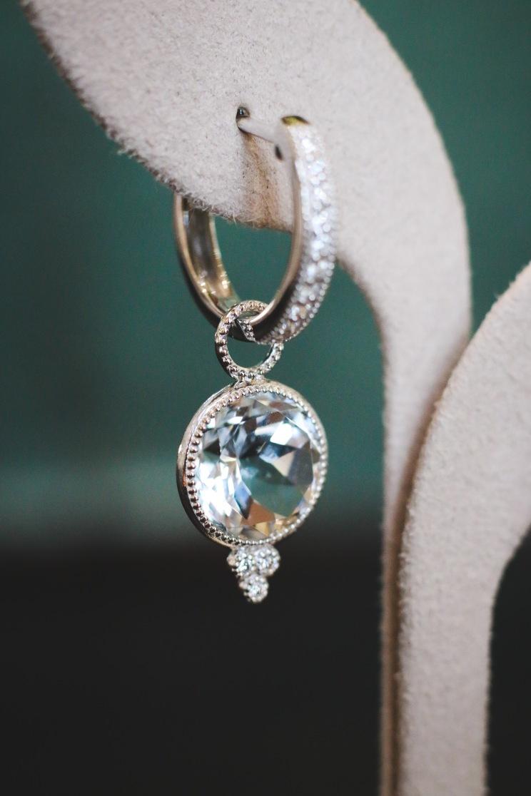 Jude Frances round stone earring
