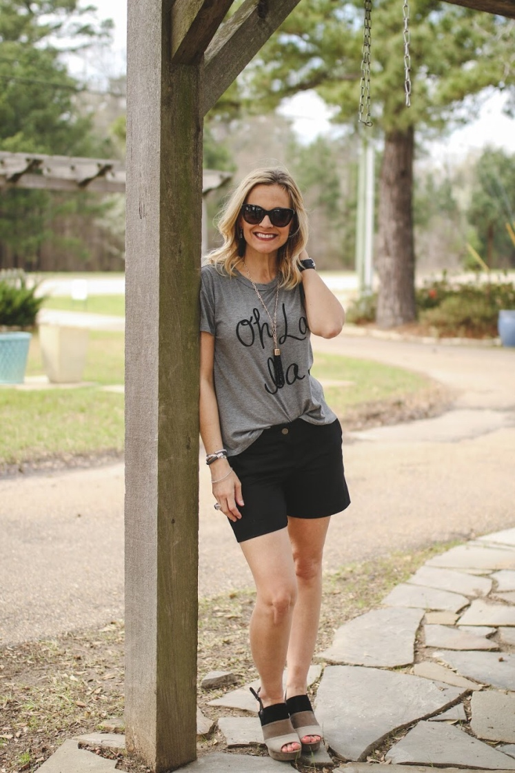Easy, chic way to style shorts